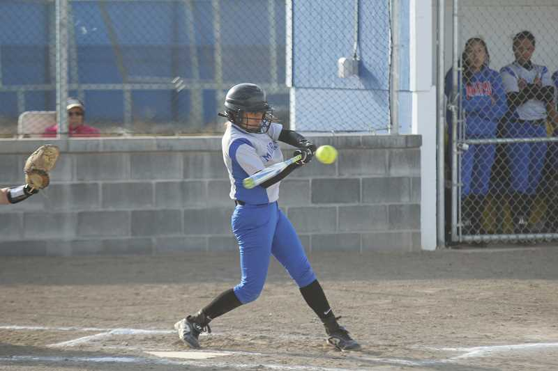PIONEER FILE PHOTO - As the team's lone senior, Arysta Pineda will be called on to provide a consistent bat and mentorship to young players.