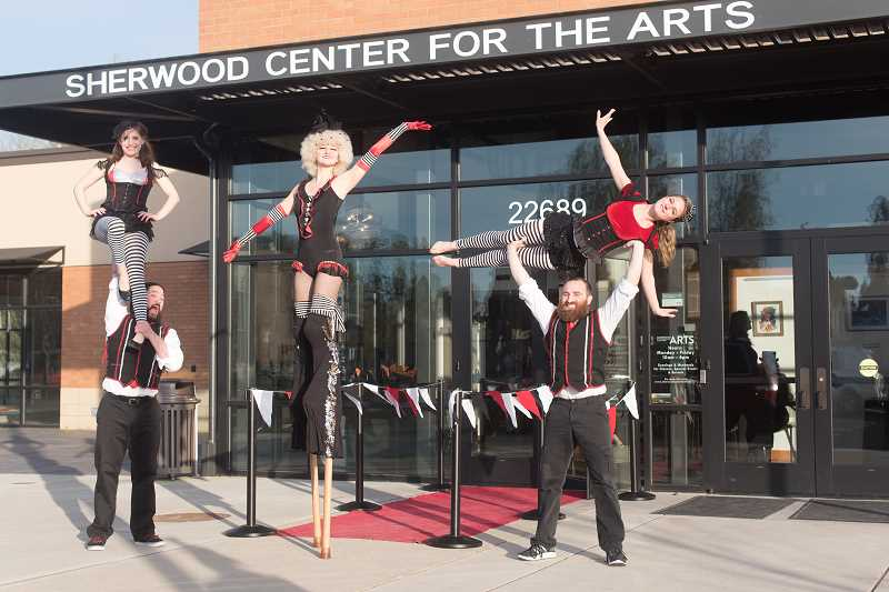 """COURTESY: SHERWOOD CENTER FOR THE ARTS - The theme for last year's Center for the Arts fundraising gala was """"Under the Big Top."""""""