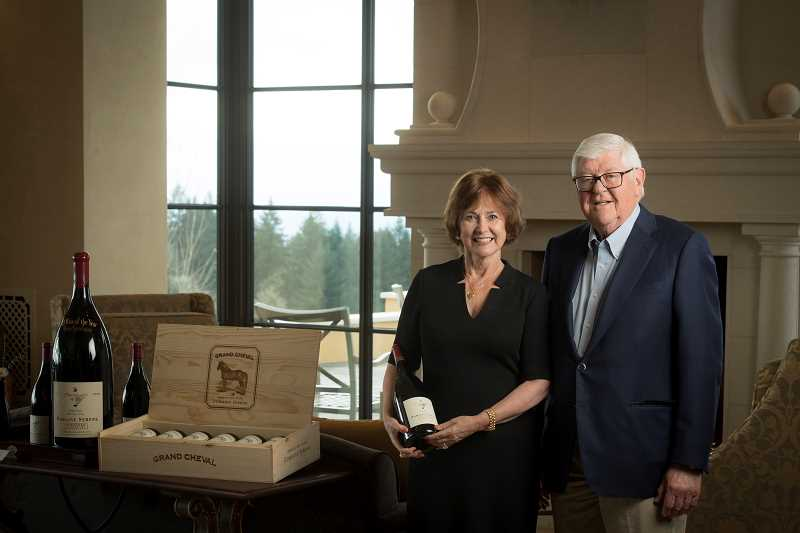 SUMITTED PHOTO  - Domaine Serene founders Grace and Ken Evenstad have pledged $6 million to Linfield Colleges wine education program.