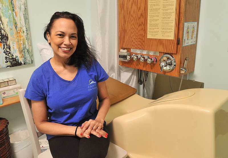 STAFF PHOTOS: VERN UYETAKE  - Macy Galla has opened a colon hydrotherapy clinic in West Linn.