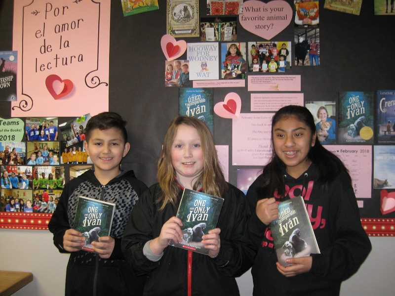 SUBMITTED PHOTO: PEGGY GARNER - All Lee Elementary families received the book 'The One and Only Ivan.'