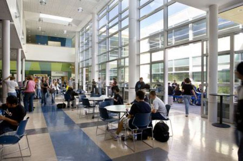 COURTESY NEWBERG SCHOOL DISTRICT - The Newberg High School commons is shown in this courtesy photo.