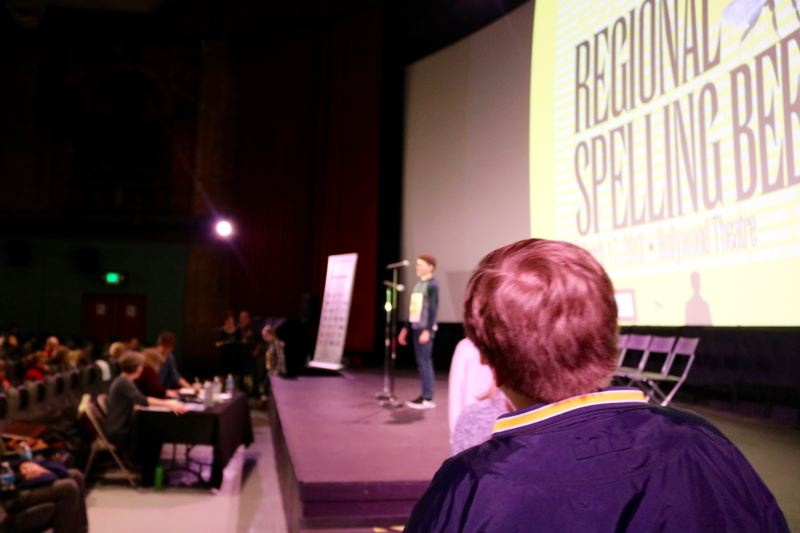 TRIBUNE PHOTO: ZANE SPARLING - The Regional Spelling Bee, presented by the Pamplin Media Group and Comcast, kicked off around 10 a.m. on Saturday, March 17 at the Holldywood Theatre in Portland.