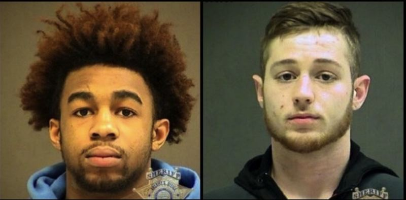 POLICE PHOTO - Christopher Goosby, left, and Jeremy McGoldrick are shown in two police photos released on March 18, 2018.