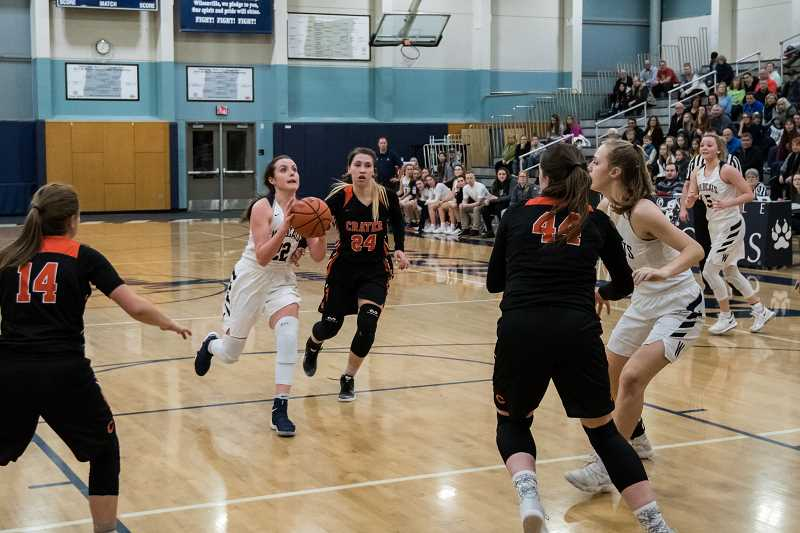 ARCHIVE PHOTO: TANNER RUSS - Despite not making it into the quarterfinals of the state tournament, the Wilsonville girls basketball team will be strong heading into next year with several returning playmakers.