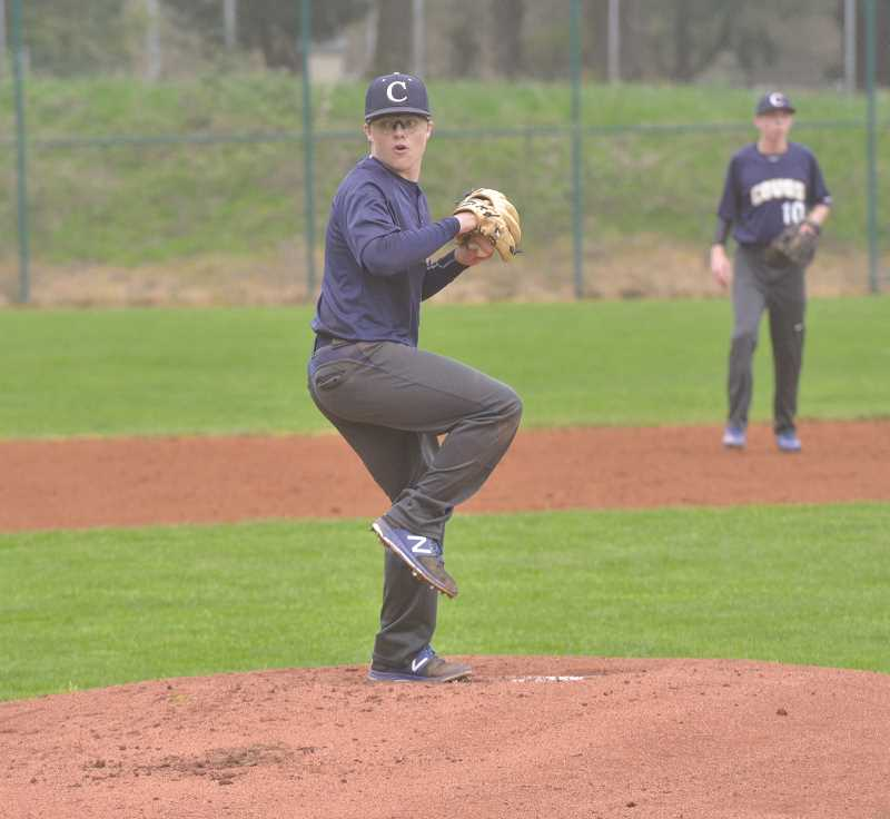 ARCHIVE PHOTO - Canby junior Sean Wiese is returning to the pitchers mound for a third straight year. With a familiar face leading the charge, the Cougars will seek to move up from last years spot at the bottom of the Three Rivers League.