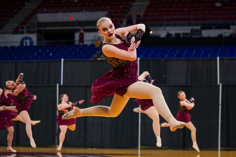 COURTESY PHOTO: JOHN LARIVIERE - Tigard High School's Dance and Drill team took home the OSAA 6A trophy after three days of competition in Portland.