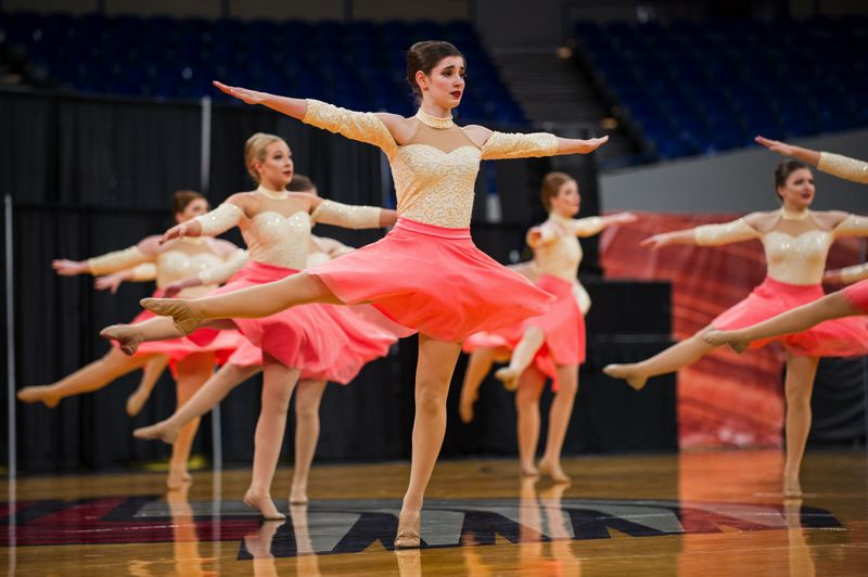 COURTESY PHOTO: JOHN LARIVIERE - Tualatin High School's dance and drill team placed seventh in the OSAA 6A competition.
