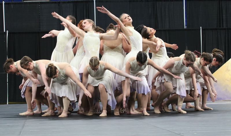 COURTESY PHOTO: JOHN LARIVIERE - Canby High School's dance and drill team took first in the Show competition.
