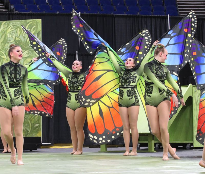COURTESY PHOTO: JOHN LARIVIERE - West Linn High School's team placed sixth in the Show competition.