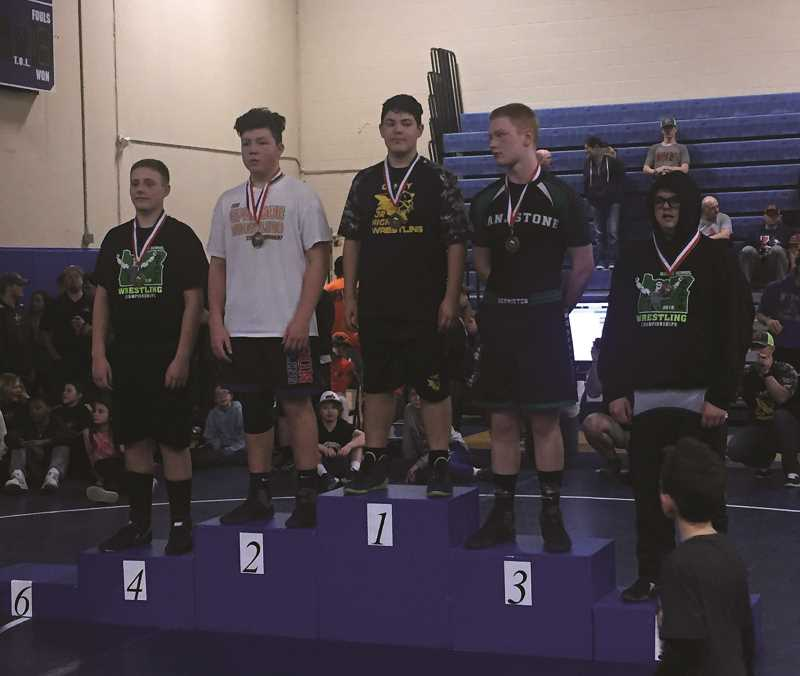 SUBMITTED PHOTO - Baker Prairie eighth grader Cobie Daly took first place in the state tournament on Mar. 10 hosted at Woodburn High School.