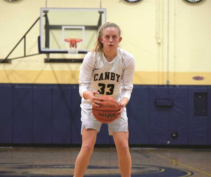 ARCHIVE PHOTO: TANNER RUSS - Canby senior Hannah Myers was selected to participate in The NW Shootout all-star game on Apr. 14 against the best seniors Washington has to offer.