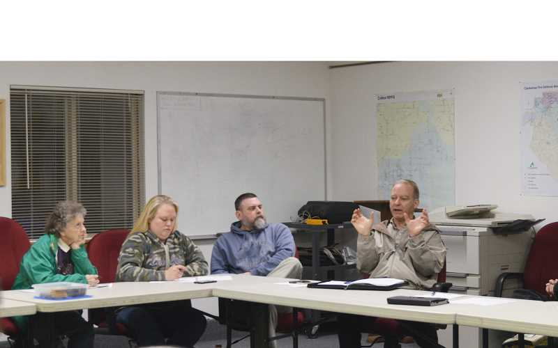 PIONEER PHOTO: CINDY FAMA - Clackamas County Commissioner Paul Savas discusses community concerns at a recent CPO meeting.