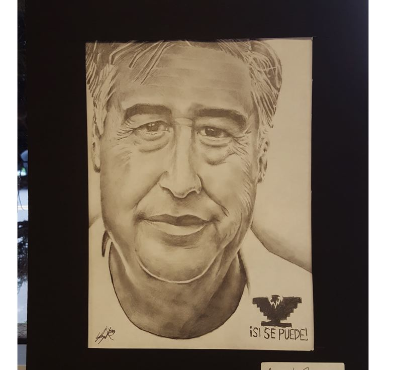 SUBMITTED PHOTO - Milwaukie senior Angel Reyes won the statewide art prize for this drawing.