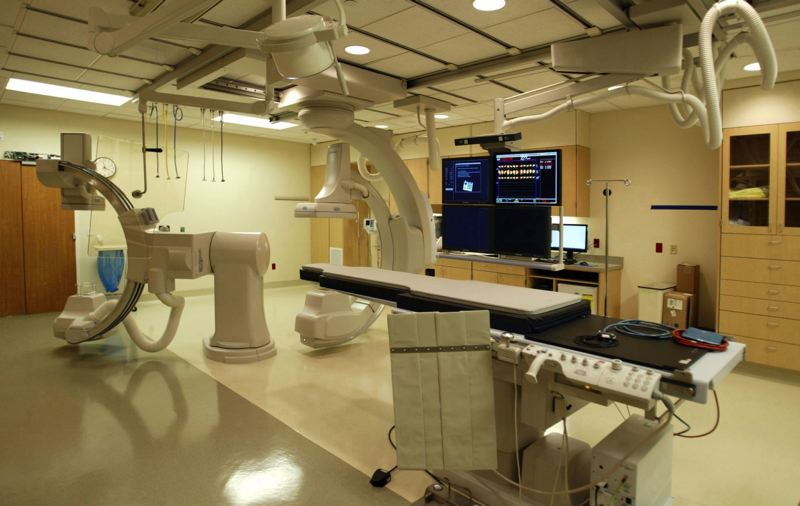 PAMPLIN FILE PHOTO - A cardiac catheterisation laboratory, used to detect heart disease, at Adventist Medical Center in Portland in 2009