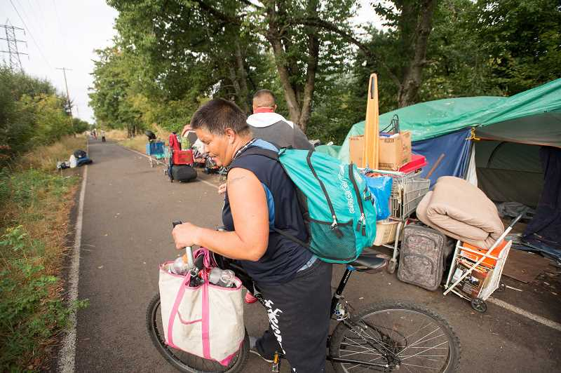 OUTLOOK FILE PHOTO - Gresham enacted a strict no-camping policy along the Springwater Corridor Trail and other spaces within the city to support neighborhood livability.
