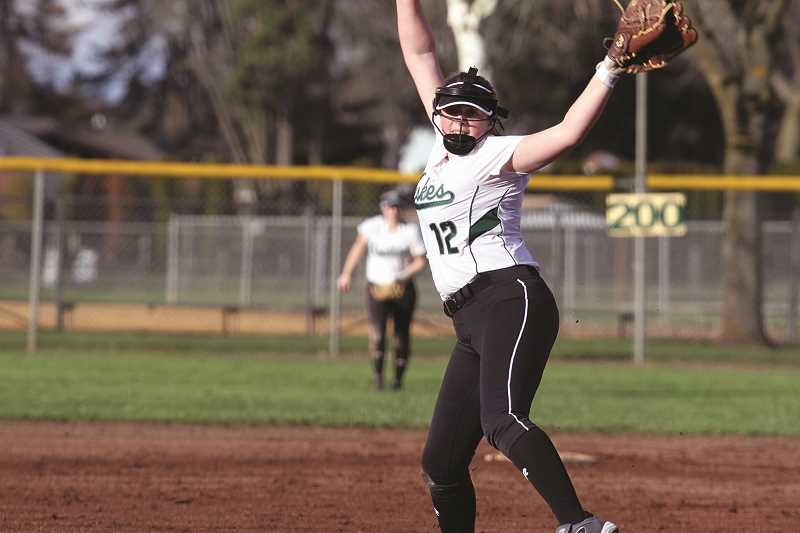 PHIL HAWKINS - Freshman pitcher Jasmine Calkins tossed a one-hitter and drove in the game-winning run in the Huskies' 2-1 victory over Astoria on Friday. It was the team's second win in the opening week of the season, eclipsing North Marion's entire win total for 2017.
