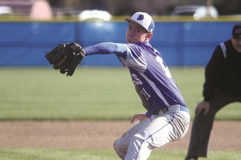 PHIL HAWKINS - St. Paul junior Jaidyn Jackson pitched five scoreless innings in the team's 4-0 victory over the Neah-Kah-Nie Pirates last week to help the Bucks open the season with two straight wins. St. Paul graduated just one player last year and returns every starter this season, giving the program an inside track toward a successful spring season as the team seeks to return to the state playoffs after just missing out last year.