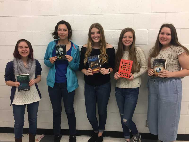 The Estacada High School Battle of the Books team, consisting of  Mariah Richards, Morgan Myrvold, Megan Tuthill, Kira Nestor and Jewel Jones, will soon participate in the state competition.