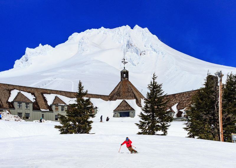 CONTRIBUTED PHOTO: TIMBERLINE LODGE SKI AND SNOWBOARD AREA - Timberline Lodge because of its altitude, is typically able to operate year-round, but every little bit of additional snow helps.