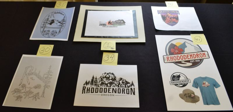 POST PHOTO: BRITTANY ALLEN - Rhody Rising logo designs chosen to be considered by the matrix committee were submitted by Renee Lamoreaux, Cheryl Budd, Mark Schumaker, Laurie Crabb and Haley Montana.