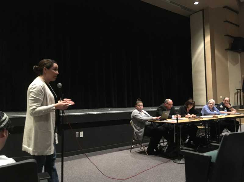 LINDSAY KEEFER - A parent sharess her concerns about how the Woodburn School District handled a recent social media threat at a March 19 public forum.