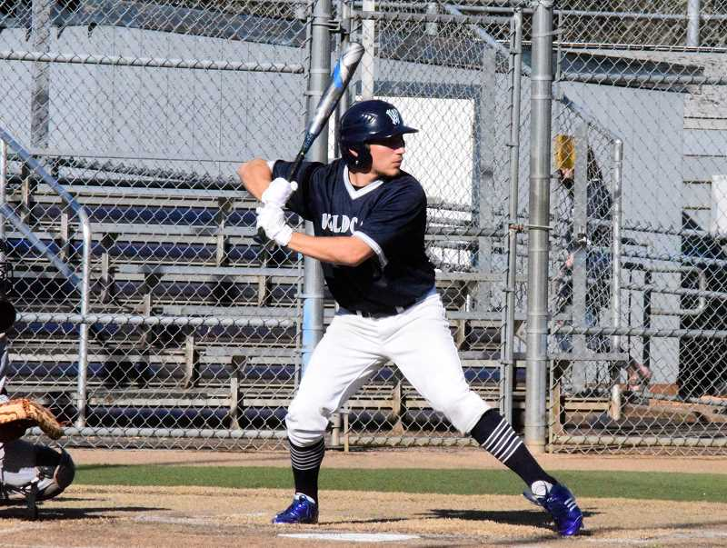 SPOKESMAN PHOTO: TANNER RUSS - Senior Andrew Gay steps up to the plate and against Lincoln on Mar. 20. Wilsonville defeated the visiting team 18-6.