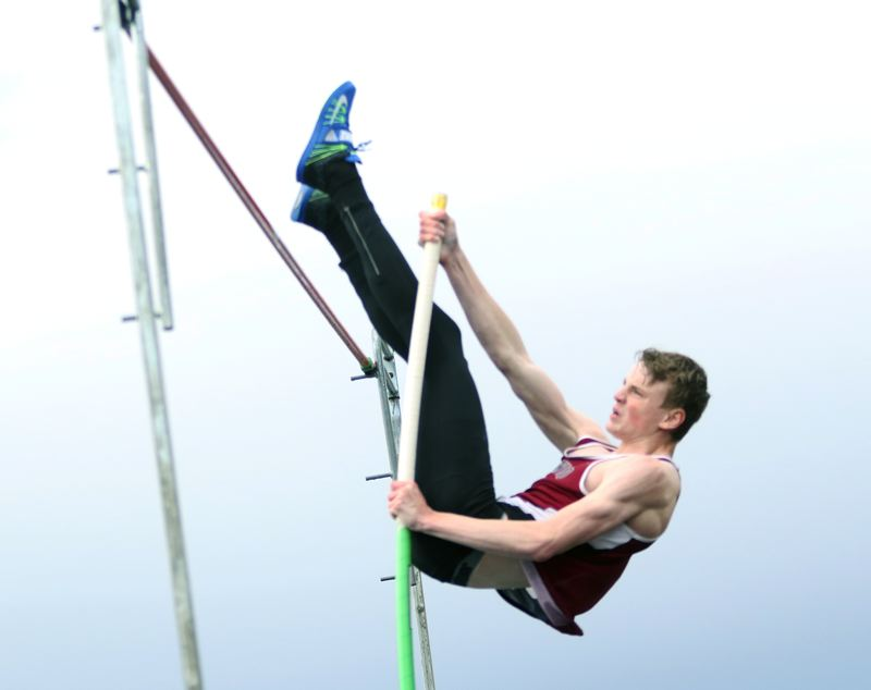 TIMES PHOTO: DAN BROOD - Senior Payton Churilla will be looking to reach new heights in the pole vault event for the Bowmen this season.