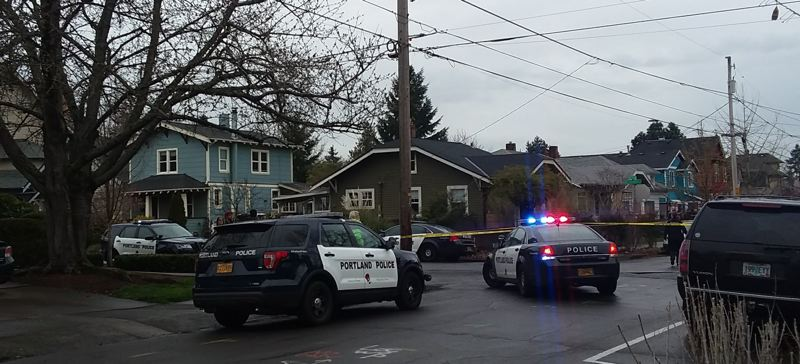 PAMPLIN MEDIA GROUP: ALISHA RALPH - Portland's Gang Enforcement Team is investigating a shooting Wednesday afternoon, March 21, in the Montavilla neighborhood.