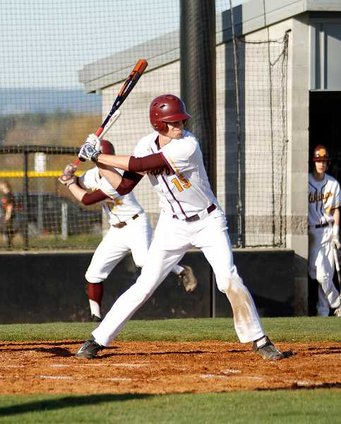 STAFF PHOTO: WADE EVANSON - Forest Grove's Zach Richards prepares to take a cut during the Vikings' game against Liberty March 20 at FGHS.