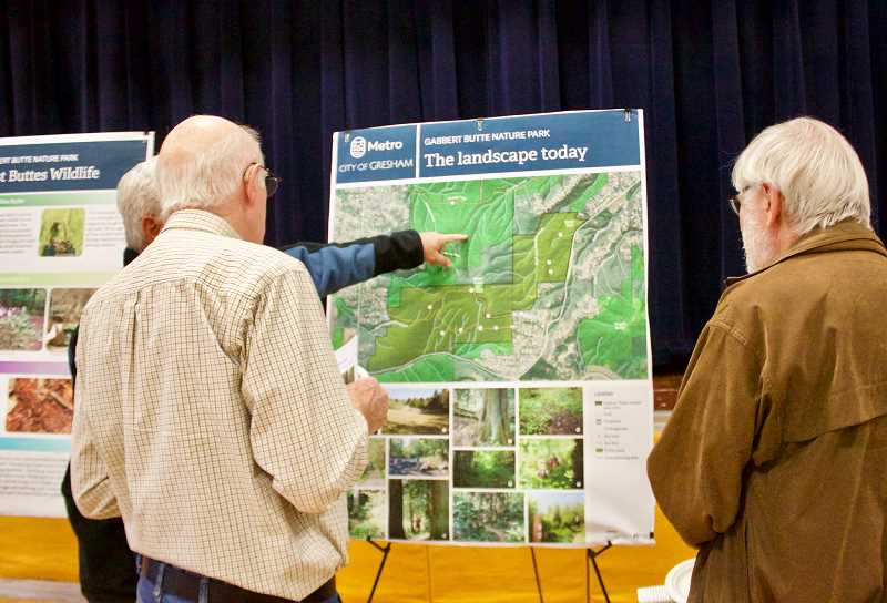 OUTLOOK PHOTO: CHRISTOPHER KEIZUR - Community members helped decide on options for the Gabbert Butte trail system and entryway.