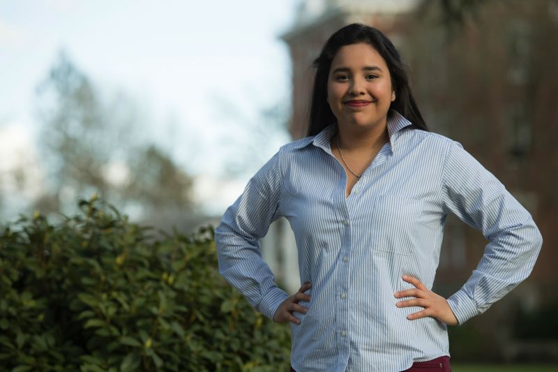 PHOTO COURTESY: LINFIELD COLLEGE - Diana Vazquez Duque says participation in Oregon City High School's debate team allowed her the opportunity to travel, meet fantastic people and develop skills.