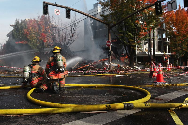 PAMPLIN MEDIA GROUP: FILE PHOTO - In October 2016, a gas explosion damaged many businesses, buildings and trees at Northwest 23rd and Glisan.