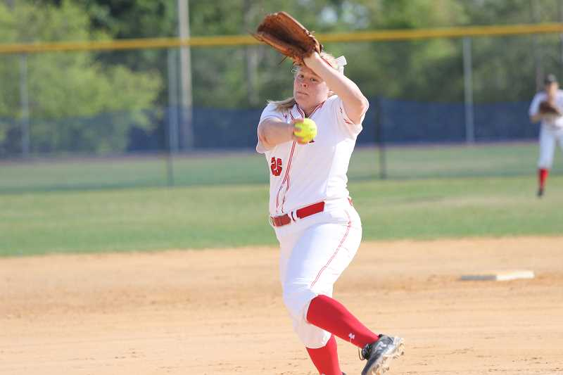 COURTESY PHOTO - Sarah Harms was named the Liberty League Softball Pitcher of the Week for her work on the RPI team.