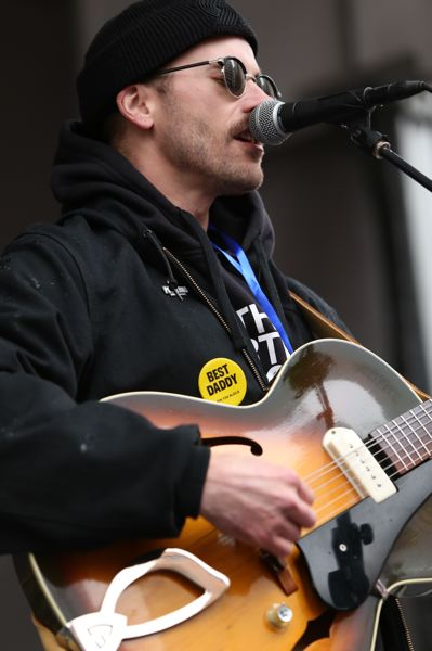 TRIBUNE PHOTO: JESSIE DARLAND - John Gormley is lead singer of the Portland-based band Portugal. The Man.