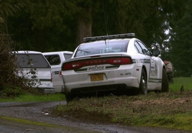 KOIN 6 NEWS PHOTO - A man is dead and a woman is in custody after a shooting in Sandy on March 24, 2018.