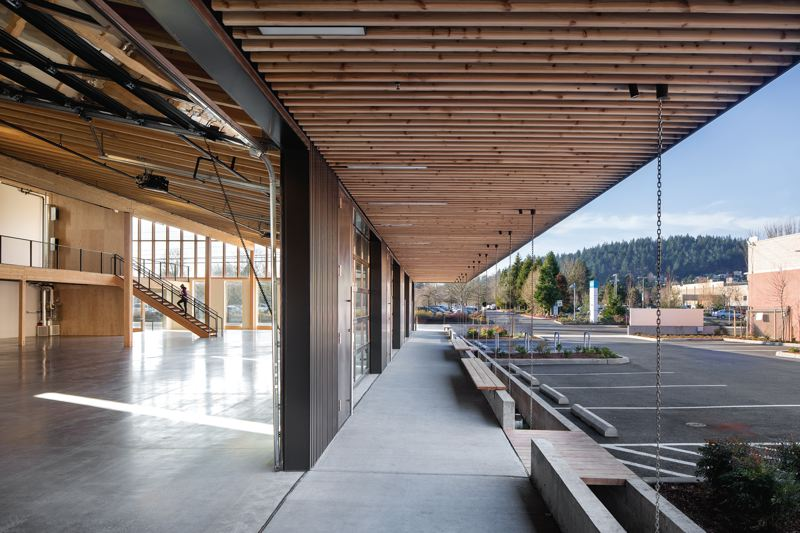 COURTESY: LEVER ARCHITECTURE - Flex is a speculative office structure located on 82nd Avenue in Portland and brings a sense of style to the otherwise non-descript building type.