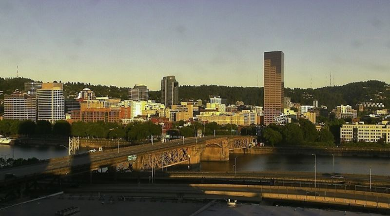 KOIN 6 NEWS PHOTO - A view of downtown Portland, June 25, 2017