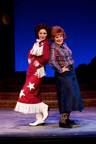 "SUBMITTED PHOTO: CRAIG MITCHELLDYER  - Sara Catherine Wheatley and Sharon Maroney in ""Always… Patsy Cline"" at Broadway Rose Theatre Company in 2013."