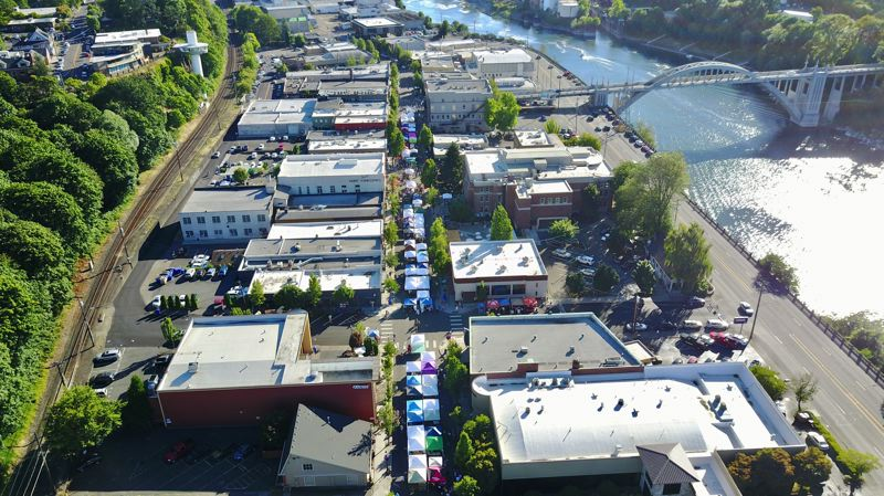 PHOTO COURTESY: DOCA - Main Street closes to traffic each year for an antique fair in Oregon City that draws thousands of people seeking collectables.