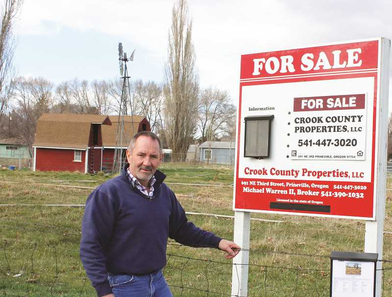 HOLLY SCHOLZ/CENTRAL OREGONIAN  - Licensed broker Michael Warren II sells bare land, commercial and residential properties through Crook County Properties. He also serves as the Realtor of Record for both Crook County and the City of Prineville.