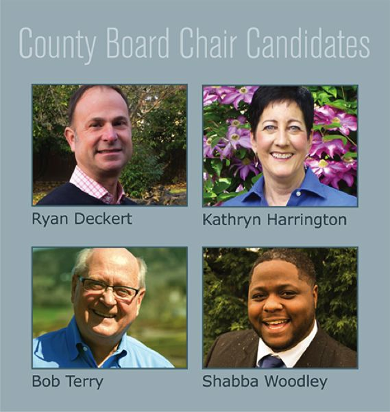 COURTESY: CPO 12C - Ryan Deckert, Kathryn Harrington, Bob Terry and Shabba Woodley all hope to serve as the next Washington County Board of Commissioners chairman.