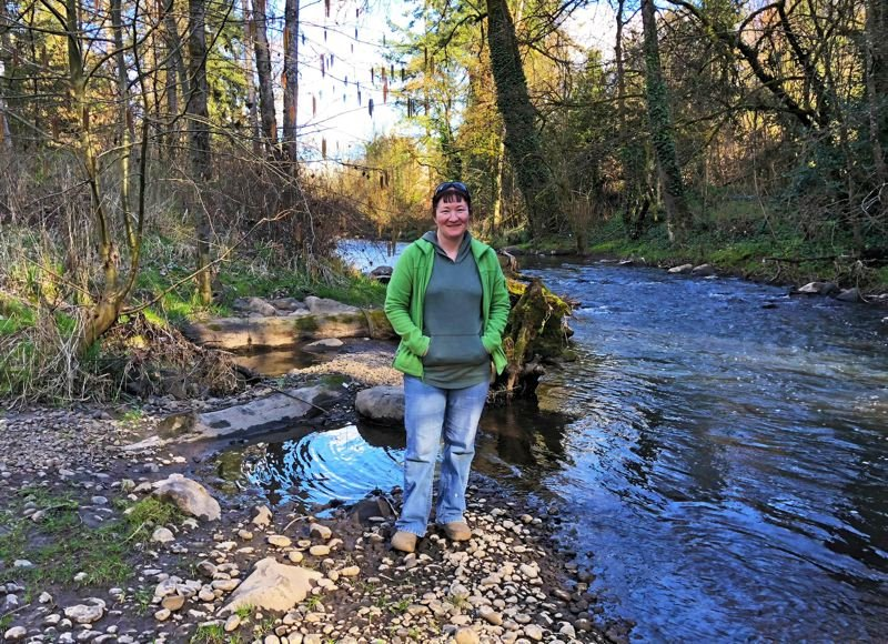 PHOTO COURTESY: CITY OF MILWAUKIE - As co-founder of Friends of Tideman-Johnson Park, Lisa Gunion-Rinker volunteers monthly to help keep Johnson Creek healthy.