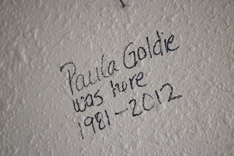OUTLOOK PHOTO: ZANE SPARLING - Former Court Clerk Paula Goldie left her mark when the Troutdale City Hall was evacuated.
