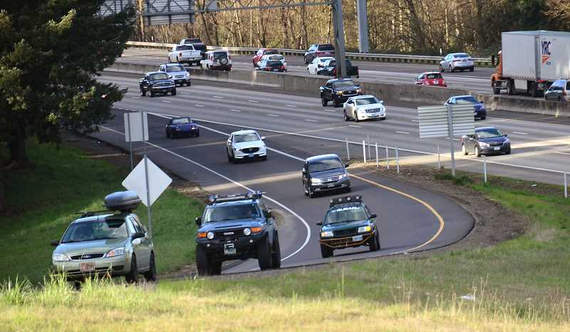 SPOKESMAN PHOTO: VERN UYETAKE - ODOT is recommending an extra lane for southbound traffic, from Wilsonville onramp to Canby offramp, shown here.