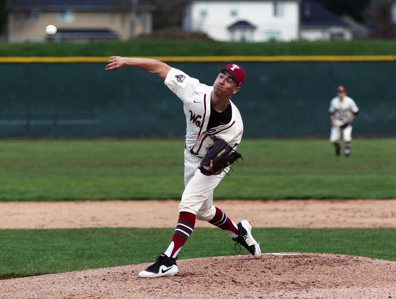 TIMES PHOTO: DAN BROOD - Tualatin High School senior Kaden Cook should be a key player for the Timberwolves at the plate and on the mound.