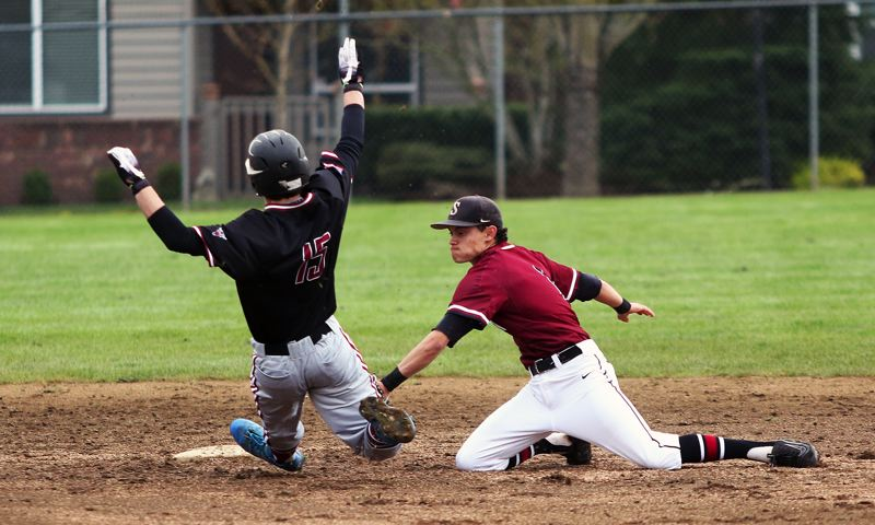 TIMES PHOTO: DAN BROOD - Sherwood junior Anthony Garrett (right) was a first-team All-Three Rivers League pick last year as an infielder.