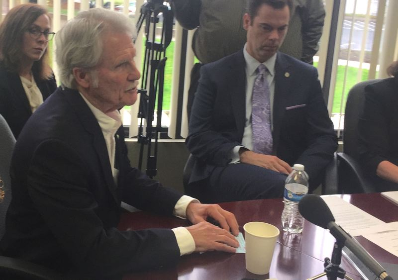 PARIS ACHEN/CAPITAL BUREAU - Former Gov. John Kitzhaber speaks to the Oregon Ethics Commission in Salem in February.