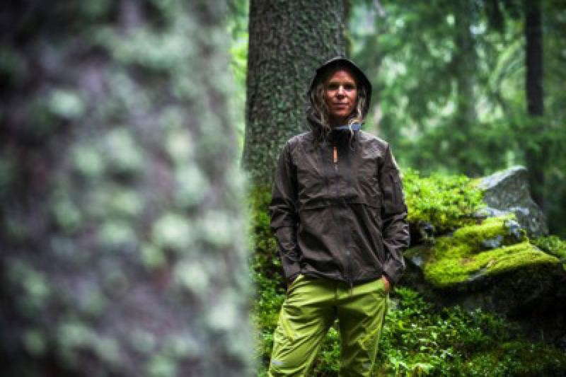 COURTESY: EARTHTALK  - Fjällräven doesn't use any PFCs in the waterproof treatment of its Keb Eco-Shell Jacket or any of its other products.