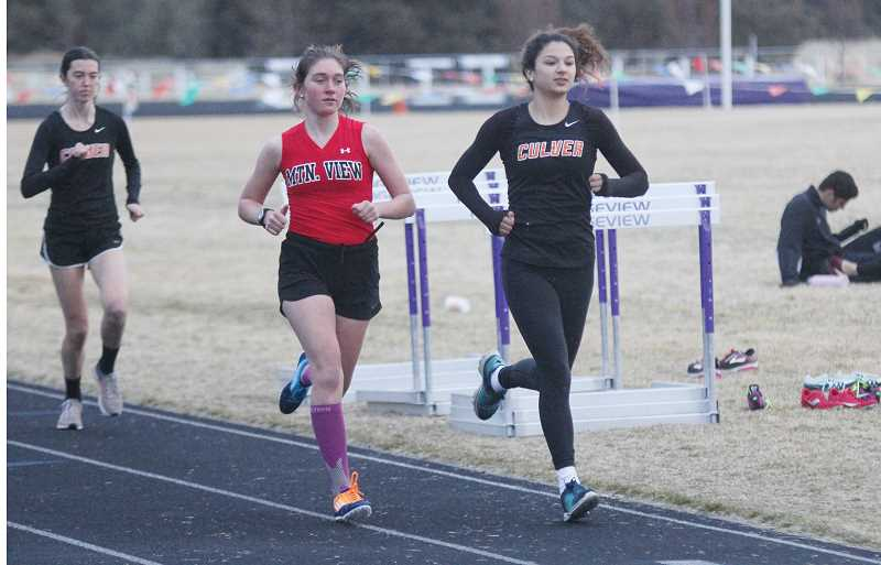 STEELE HAUGEN - Culver junior Irma Retano claimed wins in the 400, 800, and 3,000 meters at last Wednesday's meet at Ridgeview.